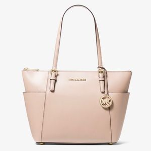 MICHAEL KORS Large Top-Zip Tote Bag Nude